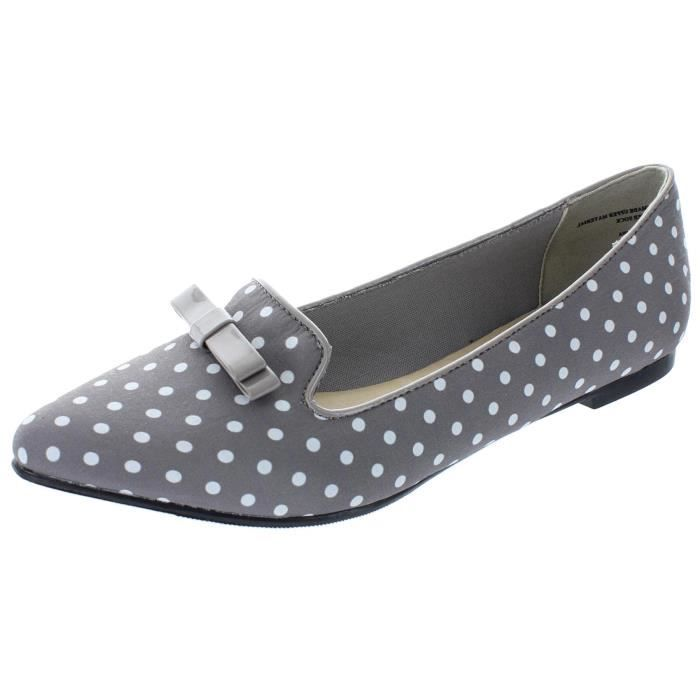 Slip On bout pointu à pois Bow Mocassins plat G4SBY Taille-38