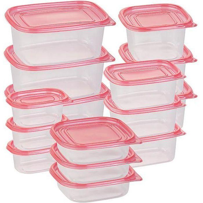 9 x Clip /& Lock couvercles conteneurs de stockage en plastique Boîtes aliments frais Pack Lunch