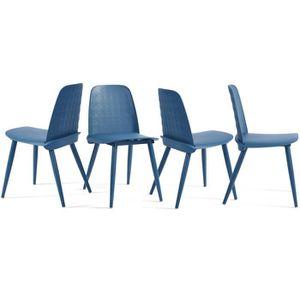 CHAISE Lot de 4 Chaise de Salle à Manger avec Assise en r