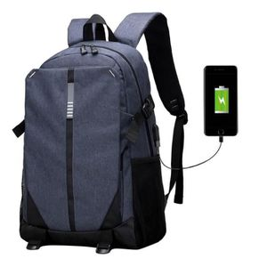 SAC À DOS CARTABLE Sac d'épaule USB rechargeable grande capa