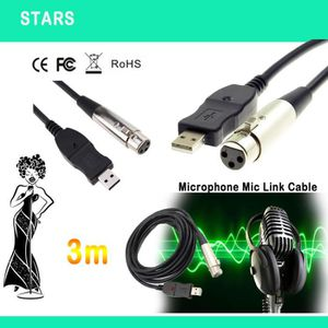 CÂBLE AUDIO VIDÉO 3M Microphone USB Mic Link Cable Adaptateur mâle X