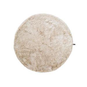 COUVERTURE - PLAID Tapis shaggy à poils longs Whisper Beige ø 200 cm