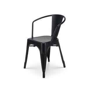 CHAISE KOSMI - Chaise en métal Noir Style Industriel Fact