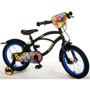 VÉLO ENFANT Vélo Enfant Garçon 16 Pouces Batman Freins sur Le