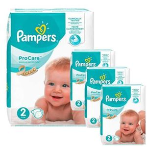 COUCHE 144 Couches Pampers ProCare Premium protection tai