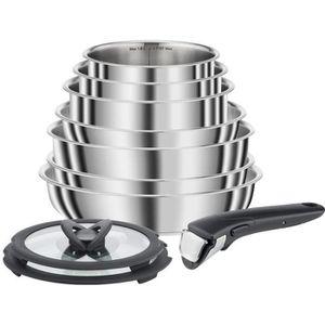 BATTERIE DE CUISINE SEB COMPACT Batterie de cuisine 10 pièces Inox Tou
