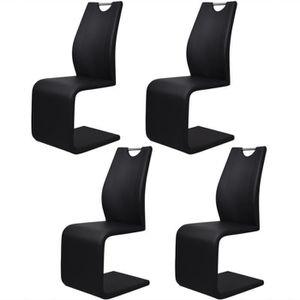 CHAISE 4PCS Chaises moderne Style en Cantilever avec poig