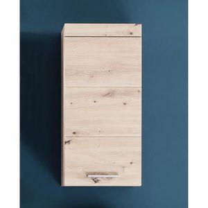SALLE DE BAIN COMPLETE Amanda meuble haut salle de bain coloris chêne L-H
