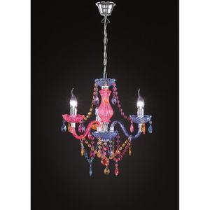LUSTRE ET SUSPENSION Lustre baroque 3 Lampes