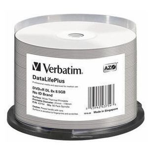 CD - DVD VIERGE Verbatim DataLifePlus, 8,5 Go, DVD+R DL, 50 pièce(