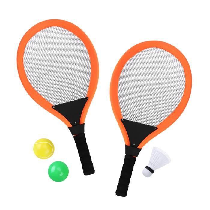 TOYMYTOY Paire de Badminton Tennis Jeu de badminton Raquette eau Raquette de tennis Balles de tennis pour les enfants