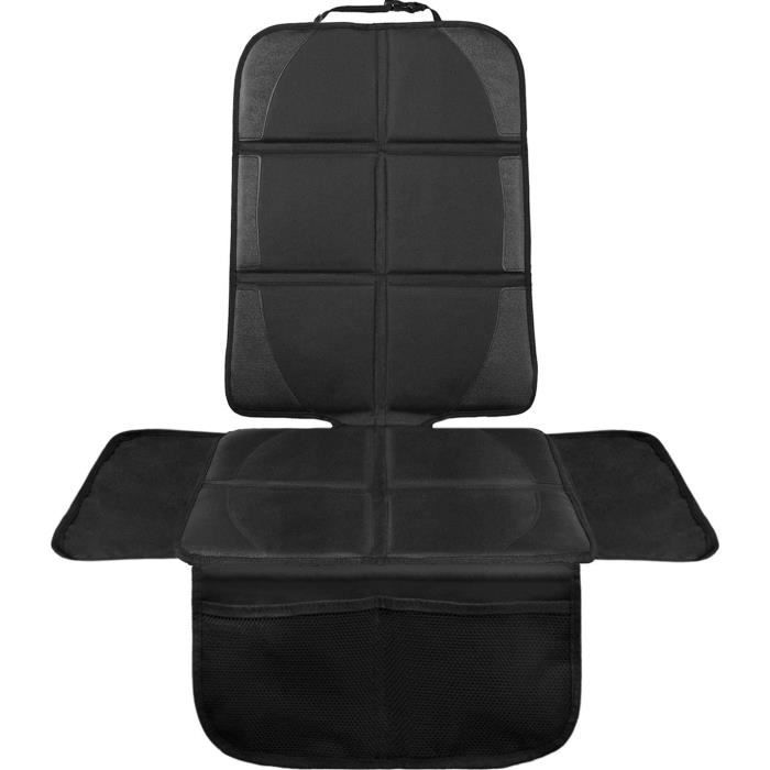 Protection de siège voiture - pour siège auto - protection siege arriere voiture enfants haut de gamme - compatible ISOFIX (noir).