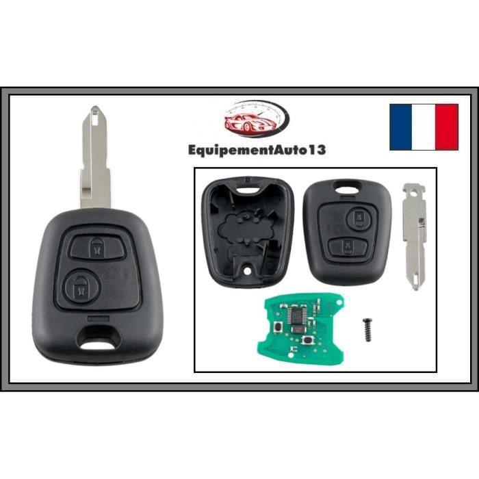 clé télécommande vierge électronique pour 206 , 206 CC, 206+
