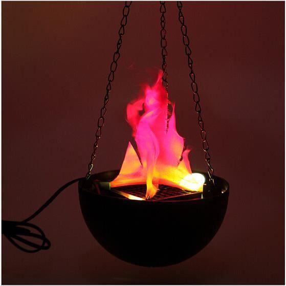 LED suspendue fausse flamme lampe torche lumière feu pot bol festival décor de fête