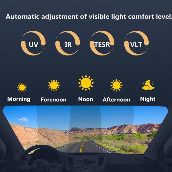 Teinte solaire en céramique - Film photochromique, Film pour vitre de voiture VLT Sunice 50%-75%, - Modèle: 50x50cm - ANQCFSYA00694