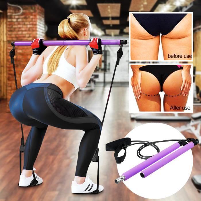 Sangle de musculation barre yoga violet