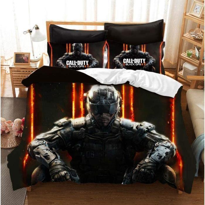 Call of Duty Housse de Couette avec Taie d'oreiller Parure de LitDouce et agréable Confort de Sommeil 135x200CM[1993]