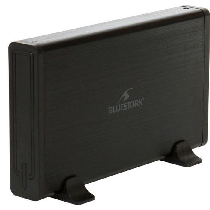 Bluestork Boitier externe disque dur 3,5'' Sata ou Ide Universal Box Usb 2.0 Noir