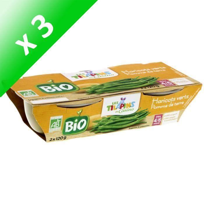 [LOT DE 3] SILL Haricots verts BIO - 2x120 g