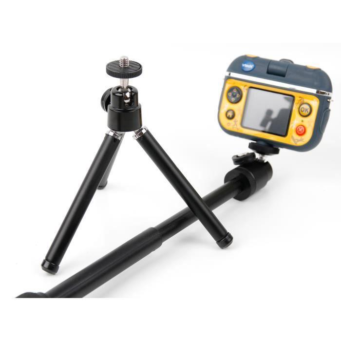 Trépied - perche 2 en 1 pour VTech Kidizoom Action Cam 180 caméra enfant 507005 - DURAGADGET