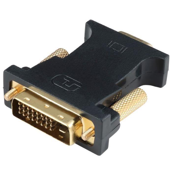 Letouch Adaptateur Dvi Vga Active Dvi D Dual Link 24 + 1 Mâle vers Vga Femelle Chip Câble Convertisseur