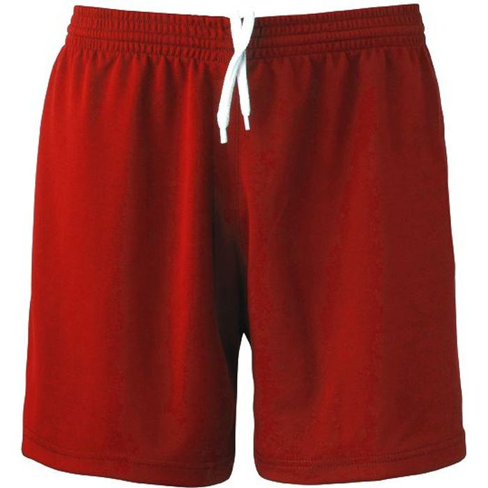 Short Football Polyester Rouge