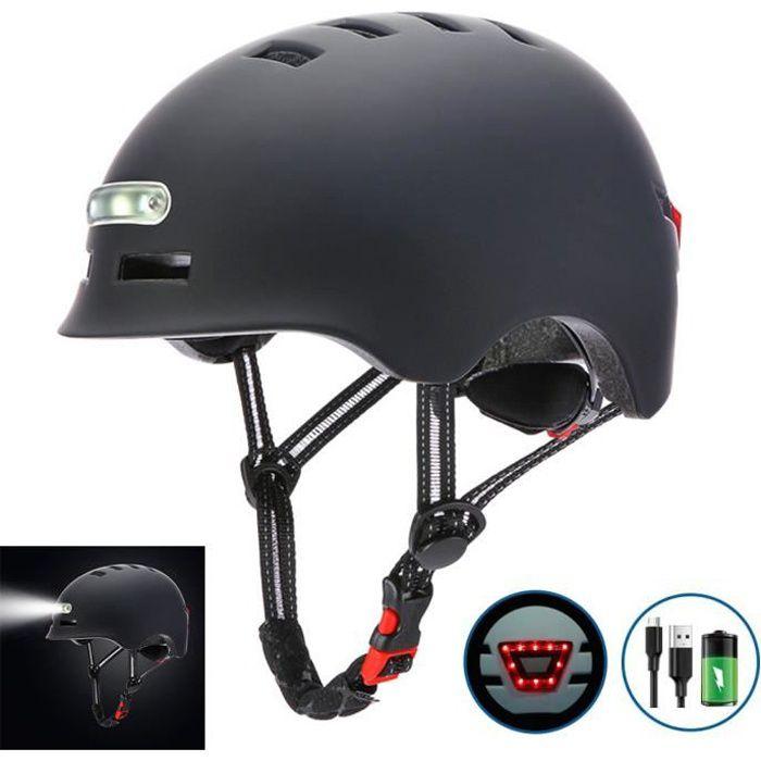 SURENHAP - Casque de Vélo Avec Charge USB Lumière Vive, Voyant D'avertissement - Rithok -5A9S9F