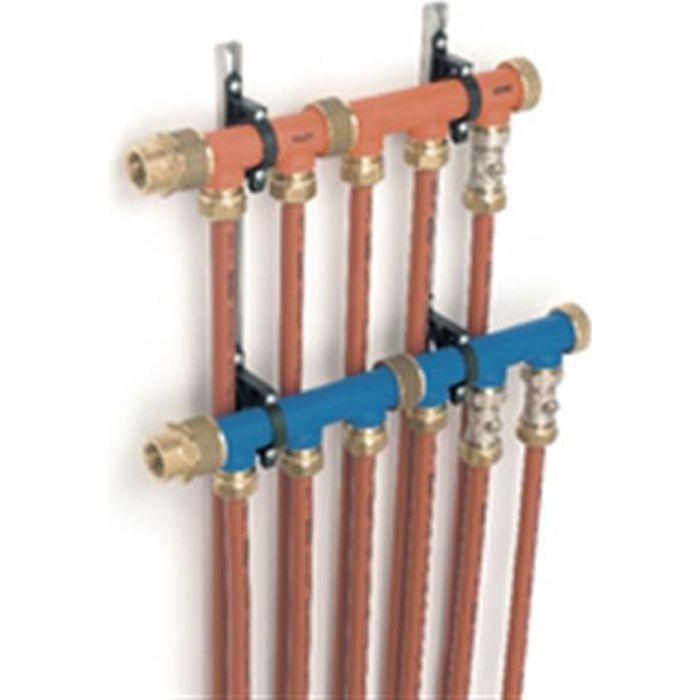 Rehau Elément bleu 3 circuits avec écrou d assemblage Rehau pour collecteur hydrodistribution 268518
