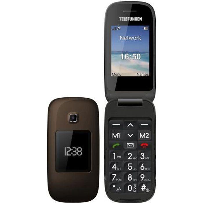 TELEFUNKEN Téléphone mobile TM260 COSI senior grosses touches TM 260COSI - Touche SOS - Clapet 2 écrans