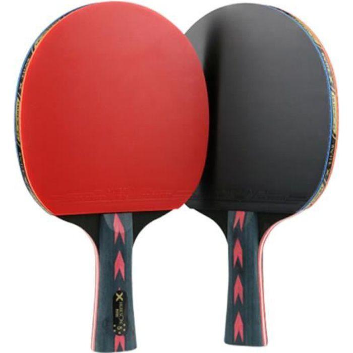 2 pièces raquette de ping-pong 5 étoiles de de tennis de table pour joueur RAQUETTE DE TENNIS DE TABLE - CADRE DE TENNIS DE TABLE