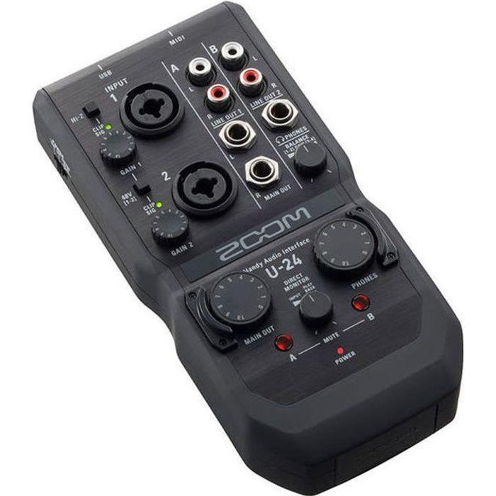 ZOOM U-24 Carte son USB - 2 in - 4 out + MIDI