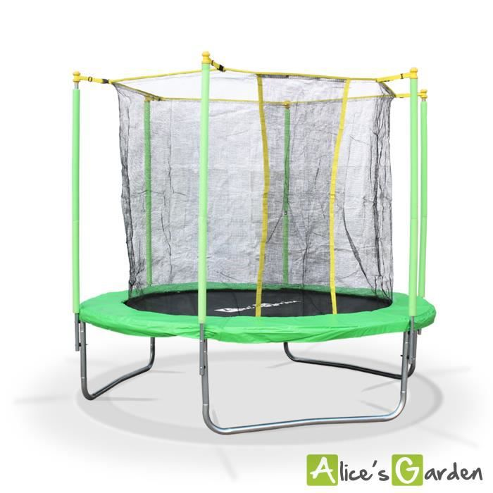 trampoline trampoline rond 250cm uranus filet de s curit. Black Bedroom Furniture Sets. Home Design Ideas