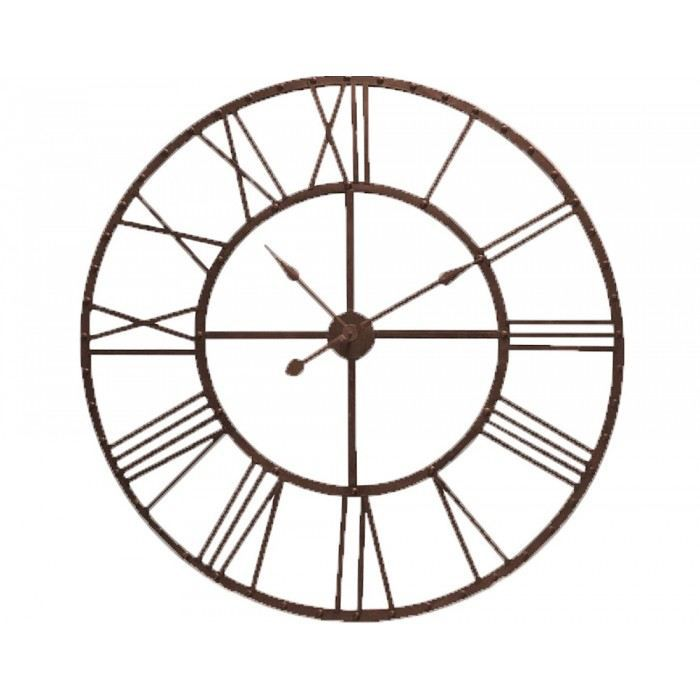 Horloge g ante design rusty mati re m tal coule achat for Horloge murale geante design