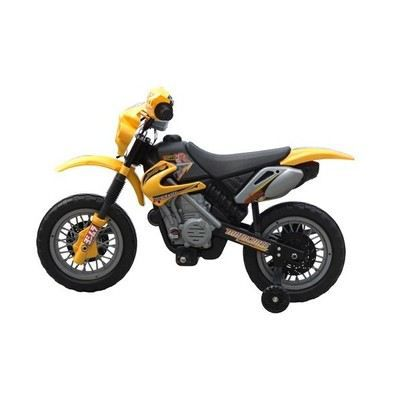 moto electrique enfant 6v jaune achat vente moto scooter cdiscount. Black Bedroom Furniture Sets. Home Design Ideas