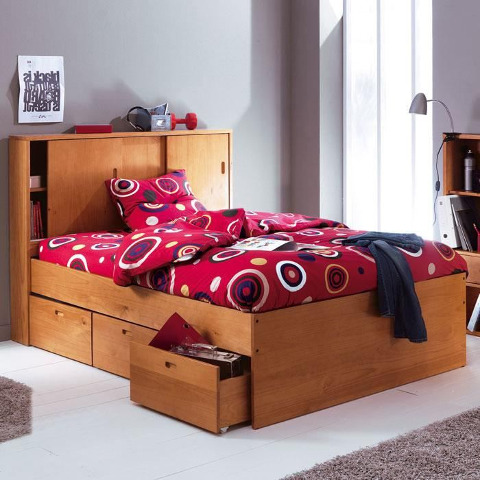 lit 140 x 190 cm blog som tiroirs achat vente. Black Bedroom Furniture Sets. Home Design Ideas
