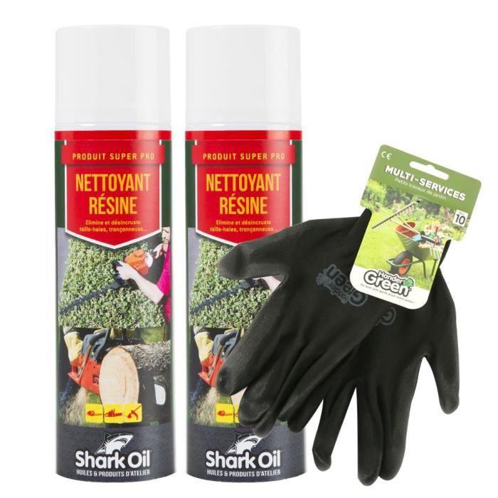 LINGETTE NETTOYANTE Nettoyant résine 400 ml Shark Oil par 2 + gants mu