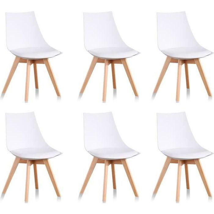 chaises scandinaves lot de 6 achat vente chaises scandinaves lot de 6 pas cher black. Black Bedroom Furniture Sets. Home Design Ideas