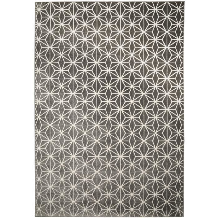 benuta tapis diamond gris 160x230 cm achat vente tapis soldes d hiver d s le 11 janvier. Black Bedroom Furniture Sets. Home Design Ideas
