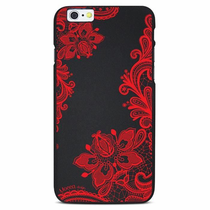 coque iphone 6 6s dentelle noir rouge