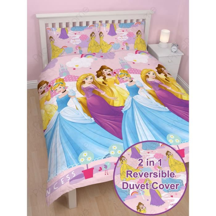 housse de couette disney princess 2 personnes achat vente housse de couette cdiscount. Black Bedroom Furniture Sets. Home Design Ideas