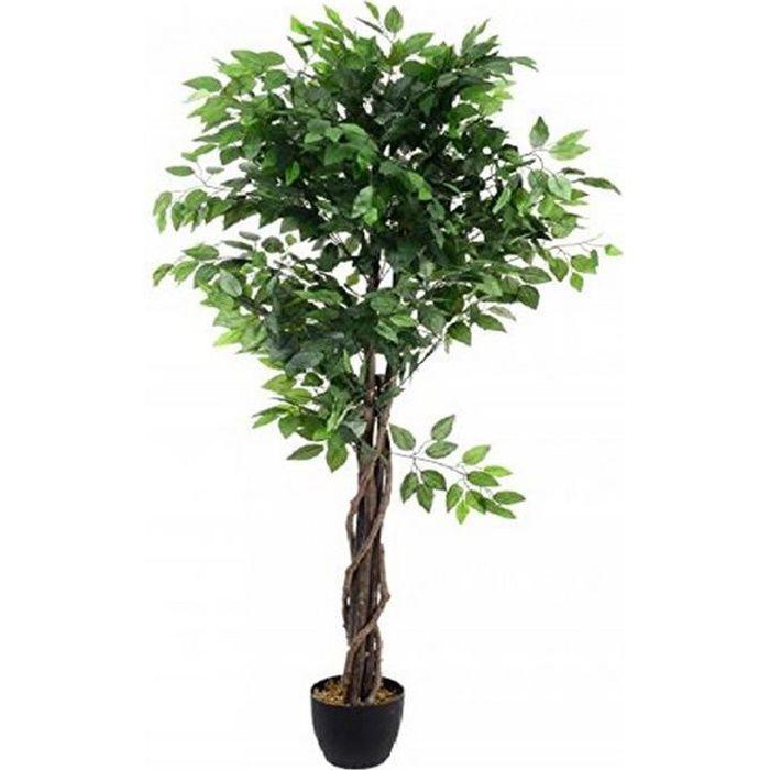 Ficus Artificiel Tronc Tressé-130 cm