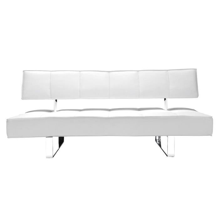 Canap convertible design blanc broadway achat vente canap sofa diva - Canape blanc convertible ...