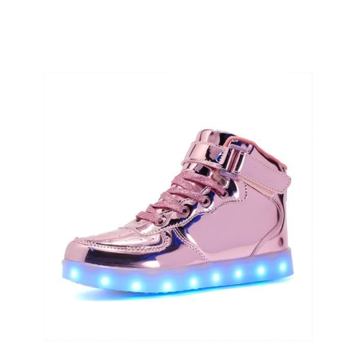 High Top Light Up Sneakers Solid Color Mode Sneakes Boy 9603640