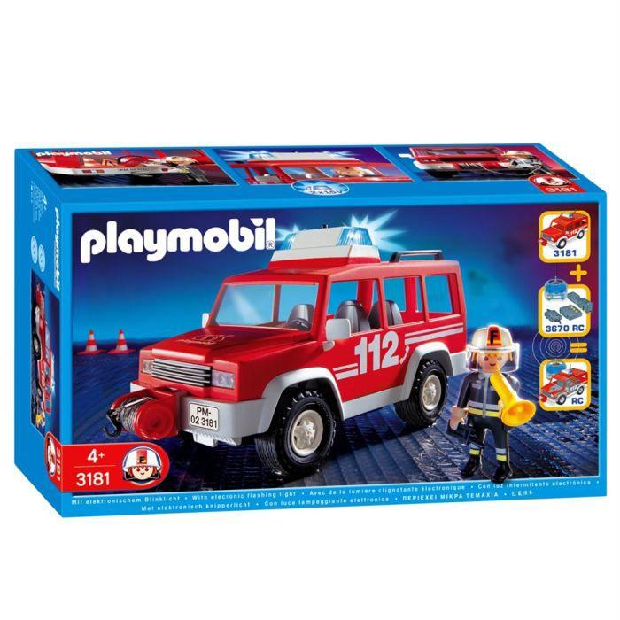 UNIVERS MINIATURE Playmobil Pompier 4x4 D'Intervention