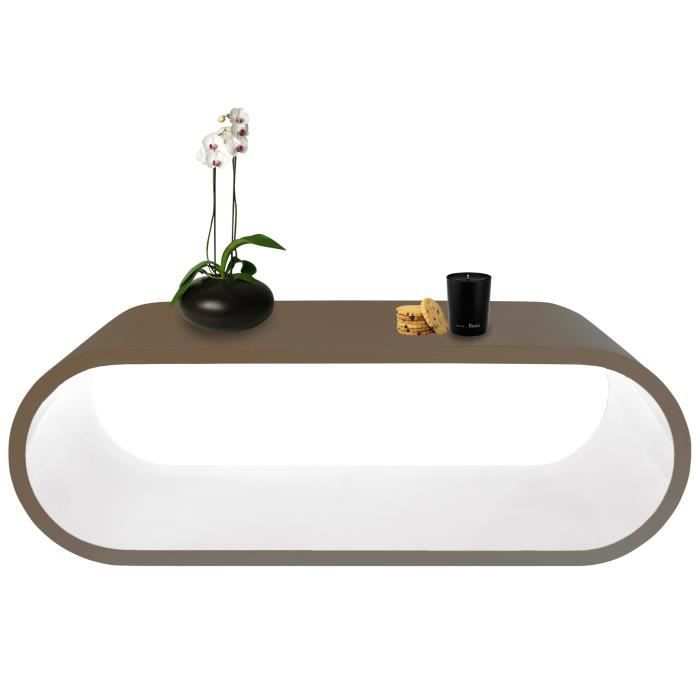 Table basse tictac taupe et blanche achat vente table basse table basse t - Table basse blanche et taupe ...