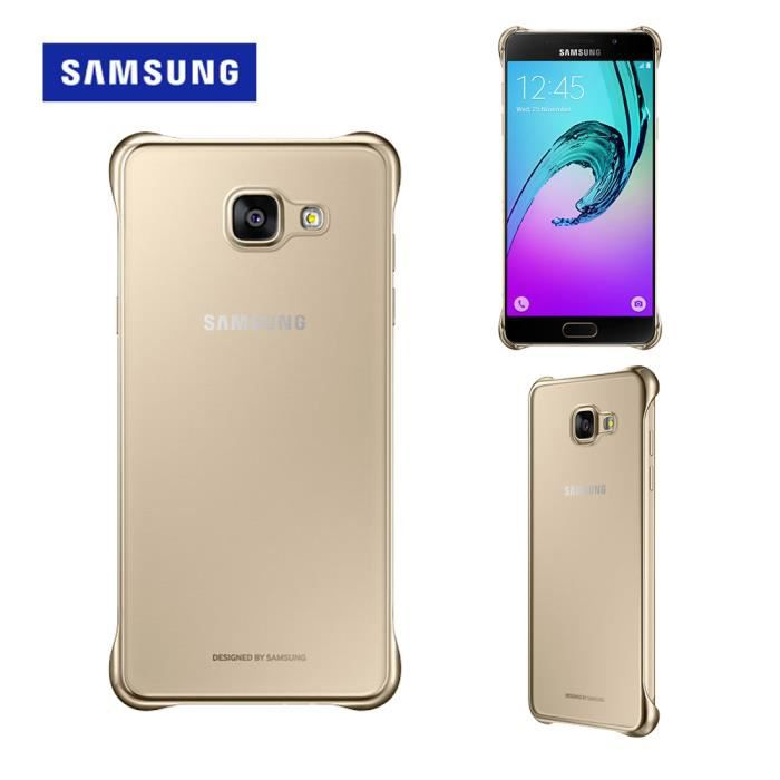 samsung clear cover a310f galaxy a3 2016 gold achat coque bumper pas cher avis et. Black Bedroom Furniture Sets. Home Design Ideas