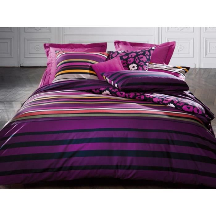 housse de couette sonia rykiel 260x240 cm foolish stripes