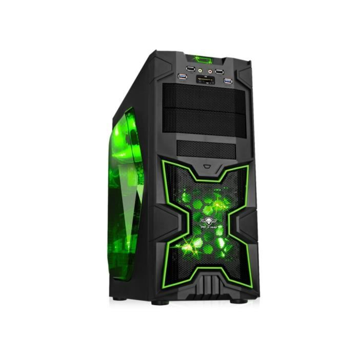 BOITIER PC  Spirit of Gamer Boîtier PC X-FIGHTERS 41 Green Arm