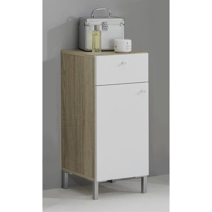 el ment de salle de bains 1 porte 1 tiroir swit achat vente armoire de toilette el ment de. Black Bedroom Furniture Sets. Home Design Ideas