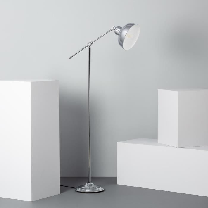 Design DEL lampadaire avec grand tissu Parapluie argent 40 cm Moderne Salon Lampe